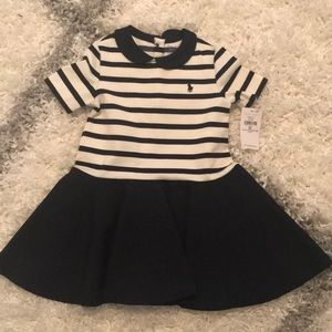 Ralph Lauren Baby Girl Striped Polo Dress